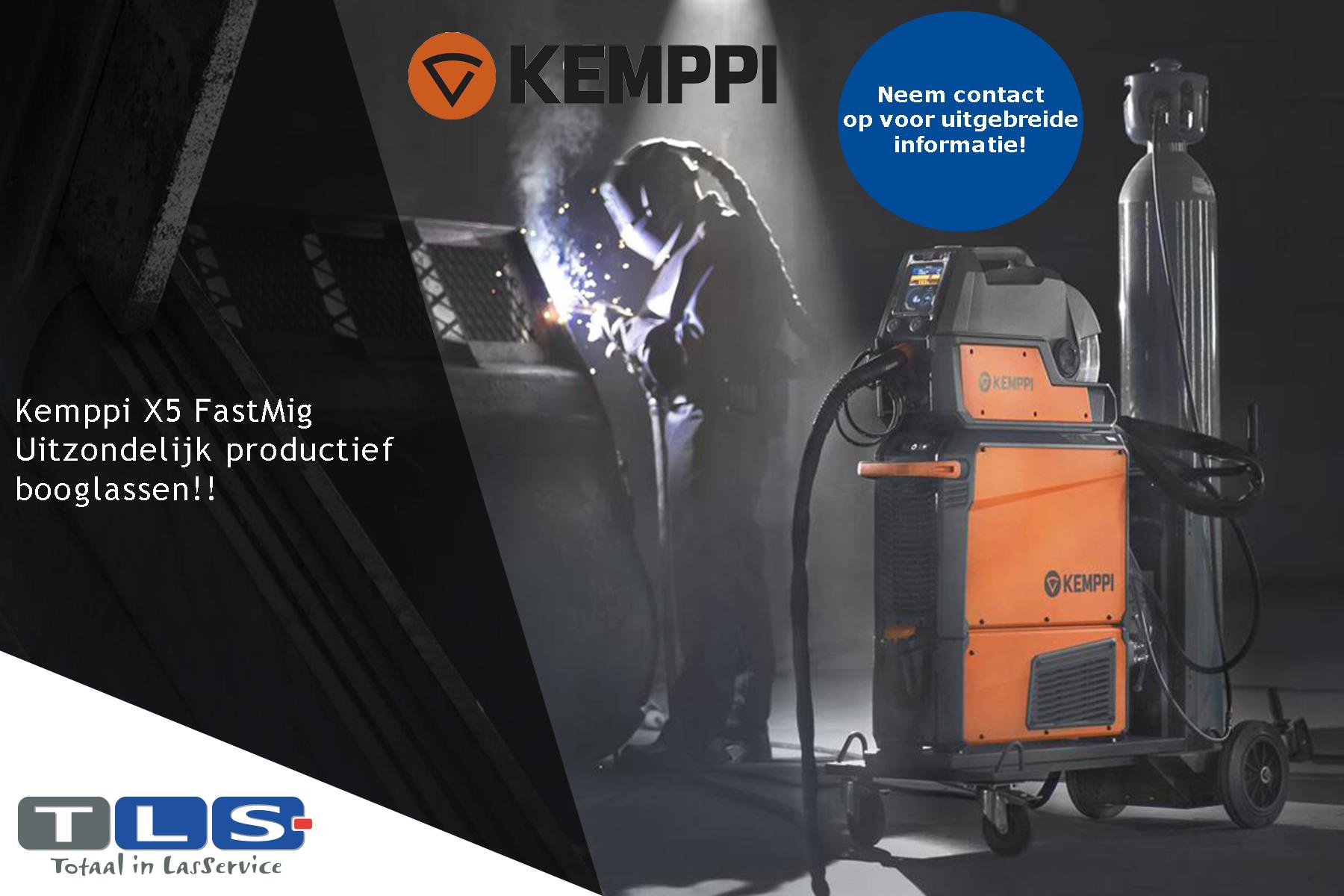 Kemppi X5 FastMig, uitzonderlijk productief booglassen!